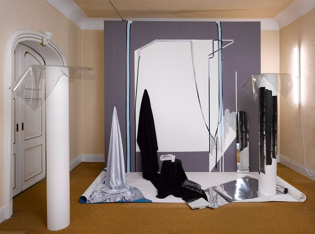 Peggy Franck, Inkjet prints, pvc, spray paint, paper, perspex, Waiting for the quiet moment to come,, 2009