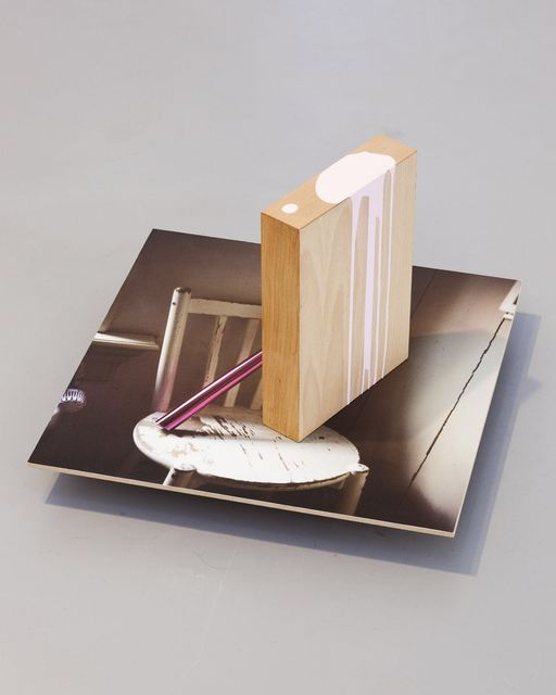 Jimmy Robert, Archival inkjet print mounted on mdf, beechwood veneer mdf, paint, Untitled, 2012