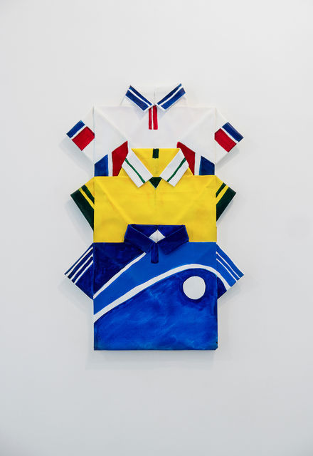 Three Sports Shirts, White, Yellow, Blue