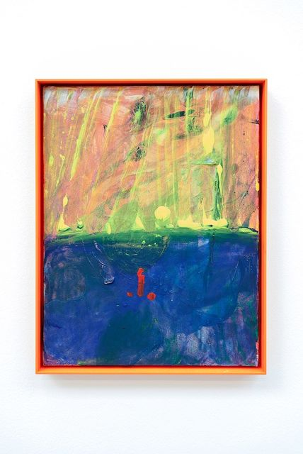 Sue Tompkins, Acrylic on canvas, aluminium frame, Mores (2018). Courtesy of The Modern Institute.,