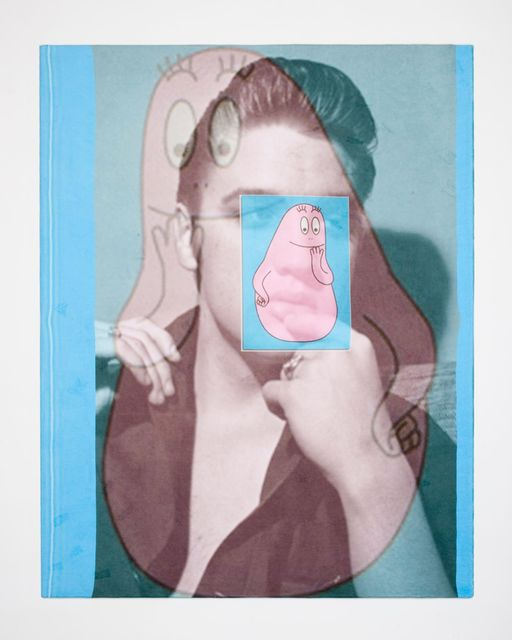 Daniel Van Straalen, Digital collage print on cotton beach towel, Triple Elvis, 2015