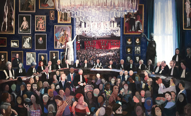 Helen Verhoeven, Acrylic on linnen, Supreme Court, 2016