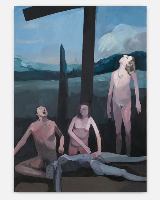 Helen Verhoeven, Acrylic on linnen, Lamentation Of Christ, 2017