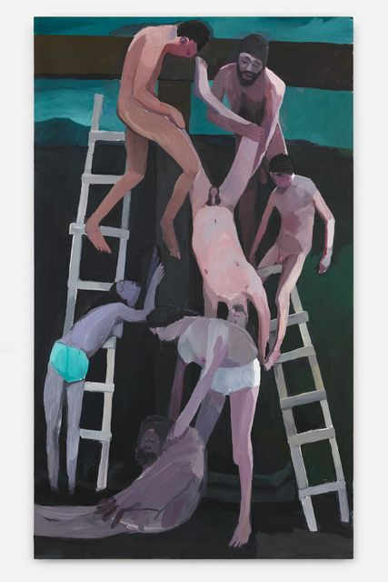 Helen Verhoeven, Acrylic on linnen, Descend From The Cross, 2017