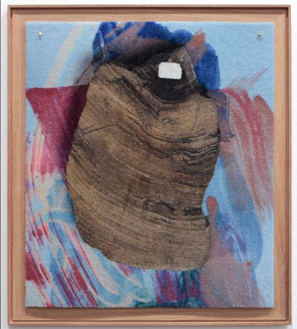 Peggy Franck, Digital print on carpet, framed, Gazes crossing (b,B), 2017