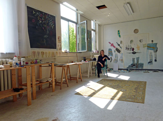 The choices of Aukje Koks, Me in my studio., - My home/studio -,