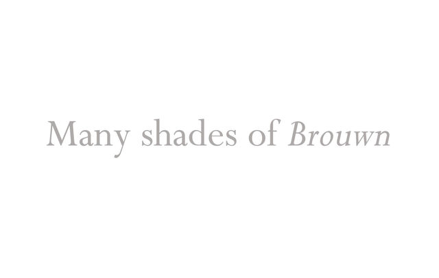 Many Shades of Brouwn